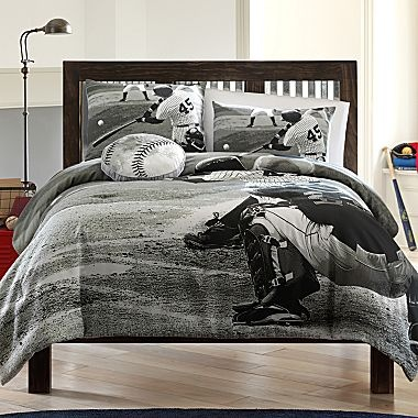 Baseball Photo Real Comforter Set And More