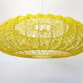 crochet lampshade by moonbasket #crochet_luminary ... inspiration GB