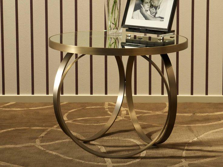 Bronze Metal Unique Design Table Base For Glass