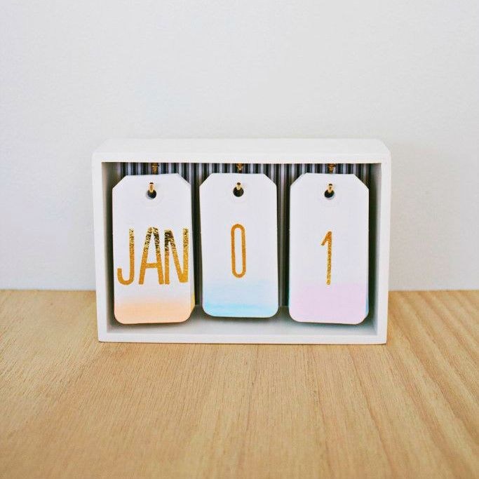 watercolor calendar