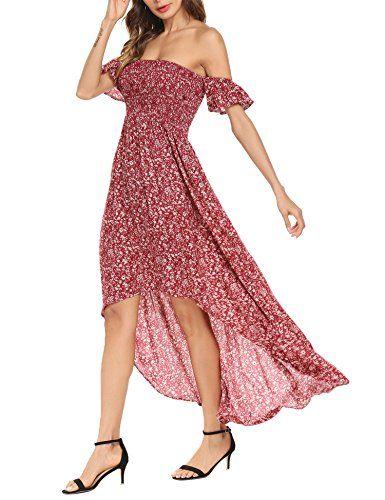 a601bc54ca Black Halo Women s Off Shoulder Floral Print Chiffon Maxi Beach Wedding Party  Dress