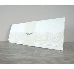 Trouwkaart Elegant kant (POCHSC1-26) │ Planet-cards.nl