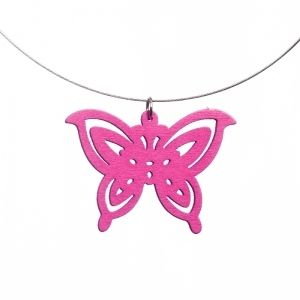 Summerish pink butterfly necklace
