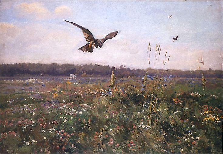 Józef Chełmoński - Pogoda.Jastrząb, 1899