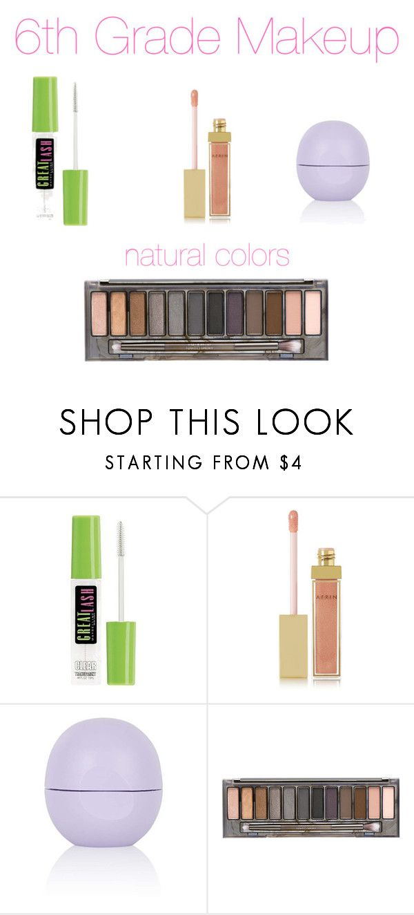 """6th grade makeup"" by iltd6770 ❤ liked on Polyvore featuring beauty, Maybelline, AERIN, Topshop and Urban Decay"