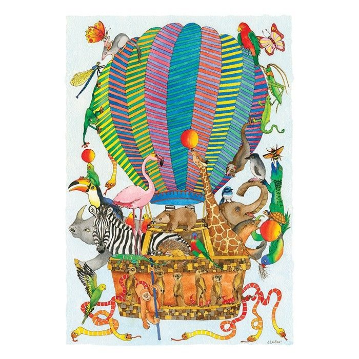 Jenny Laidlaw - 100 Piece Puzzle Hot Air Balloon One for the family #EntropyWishList #PinToWin