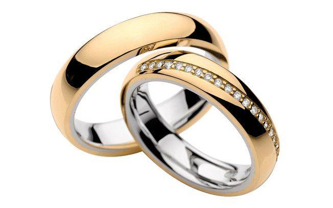 O interior é em ouro branco e a parte externa em ouro rosé. O diferencial na peça da noiva é a carreira de diamantes. Da The Graces. Foto: Divulgação