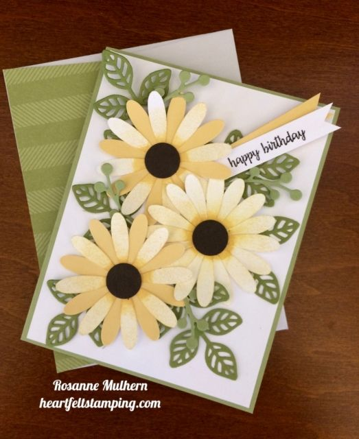 Stampin Up Daisy Punch Birthday Cards Idea - Rosanne Mulhern stampinup