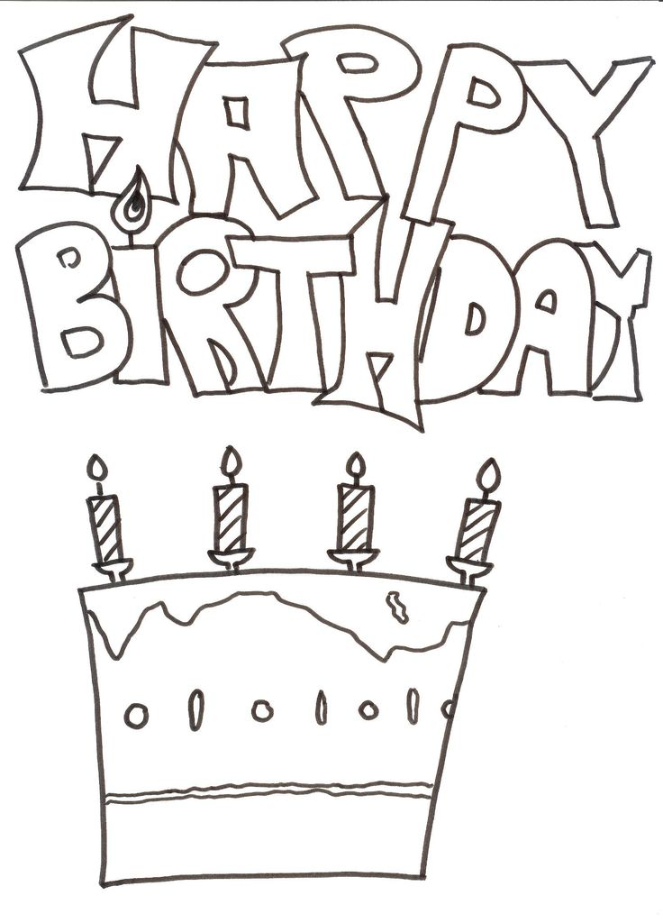 Neu Ausmalbilder Happy Birthday Malvorlagen  ...