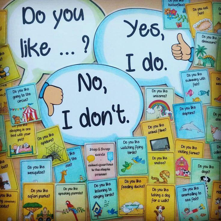 Stop n' Swap Karten mit simple present-Fragen …