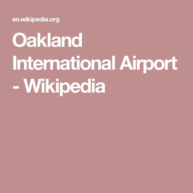 Oakland International Airport - Wikipedia