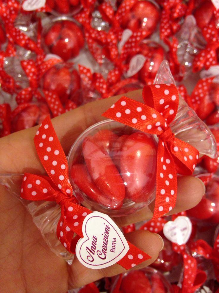 #bomboniere #favors #laurea #red #rosso #caramella #confetti #Roma www.annacreazioni.it