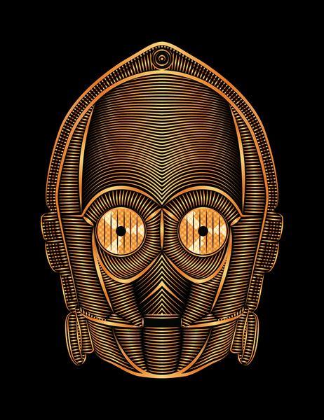 StarWars - C-3PO Art Print by Nathan Owens