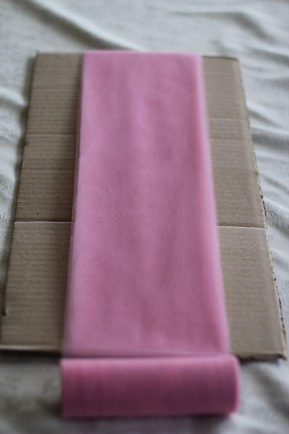 Easy method for cutting tulle for DIY children's tutus.