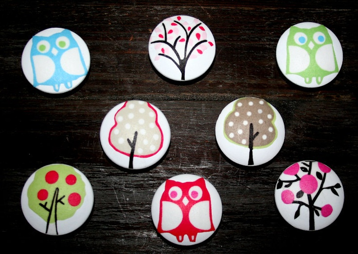 2 wooden knobs made w pottery barn kids woodland brooke set of 8