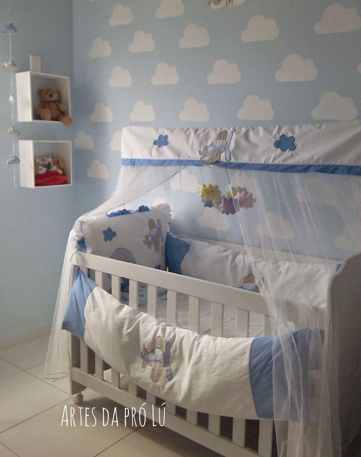Artes da Pró Lú Decoração simples, quarto do meu bebê (menino)  Quarto de b