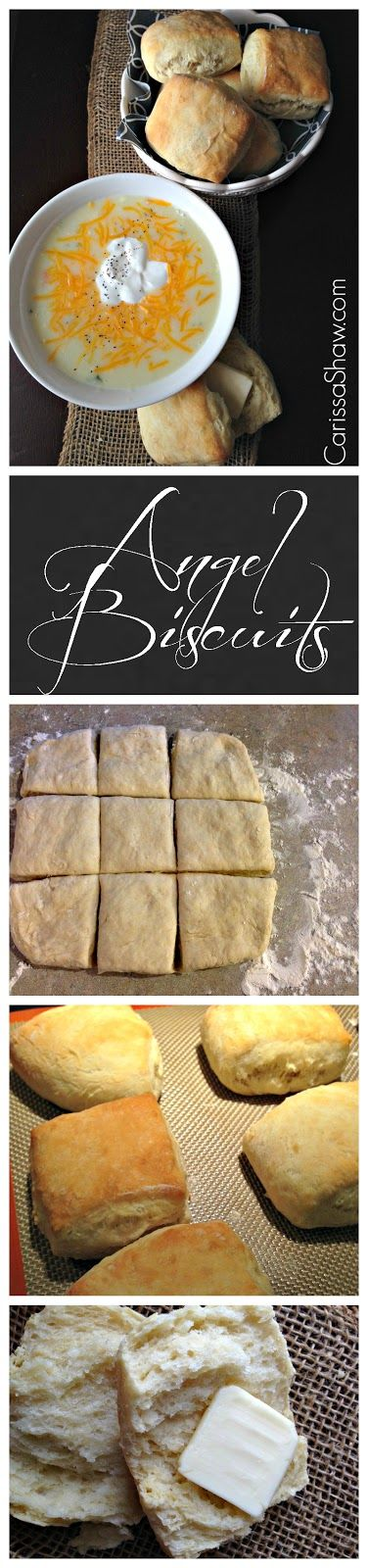 Angel Biscuits | You'll fall in love with these light and fluffy yeast raised biscuits. So easy to make and the perfect compliment to a delicious bowl of soup!