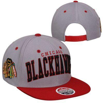 Zephyr Chicago Blackhawks Super Star Snapback Hat - Gray/Red