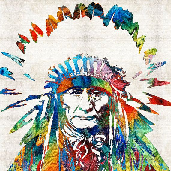 Hey, I found this really awesome Etsy listing at https://www.etsy.com/listing/211181212/colorful-native-american-art-print-from