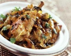 Tajine de poulet au gingembre et aux citrons confits (facile, rapide) - Une recette CuisineAZ