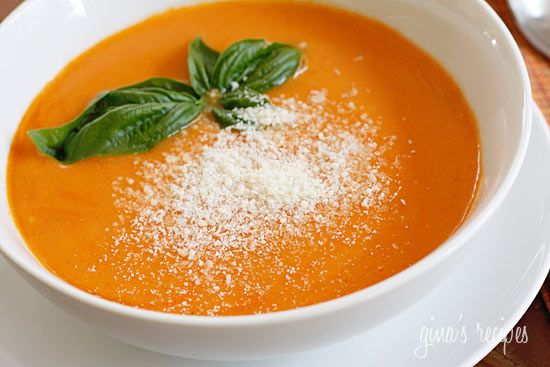 Tomato Bisque - This is velvety and creamy, high in fiber and low in fat.: Sour Cream, Healthy Tomatoes Bisque, Gardens Tomatoes, Tomato Bisque, Tomatoes Soups, Weights Watchers, Healthy Recipes, Tomatoes Bisque Recipes, Tomatoes Bisque Soups