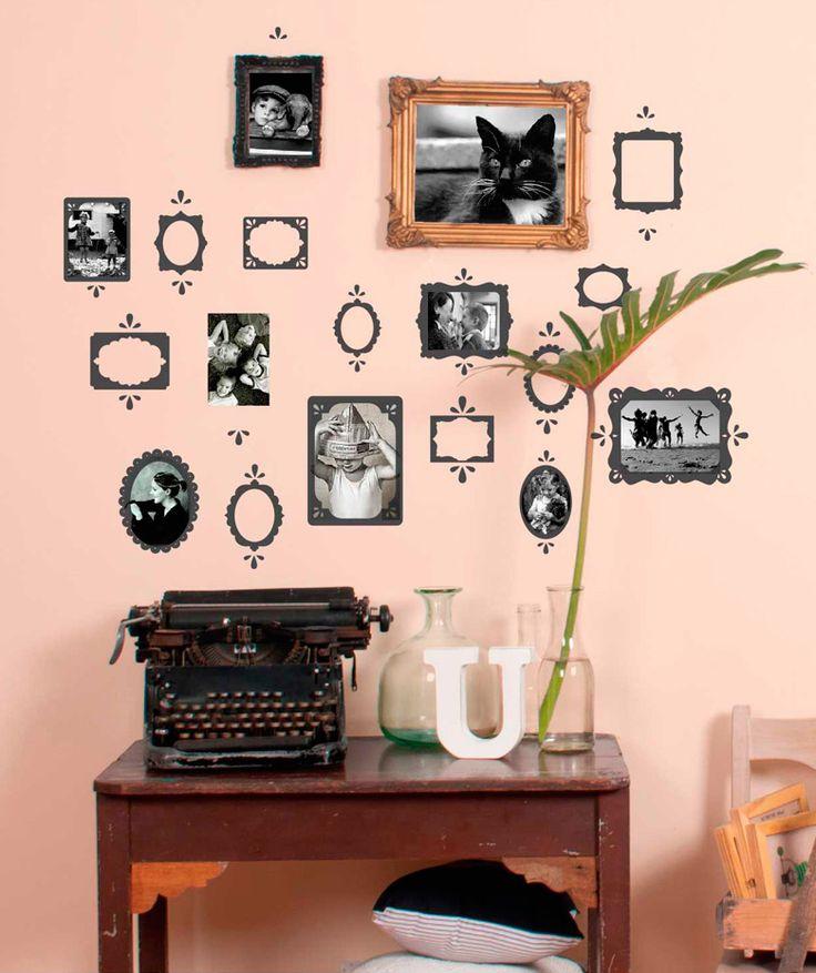 Eco portaretratos vinilo adhesivo decoraci n de paredes for Colgadores de pared adhesivos