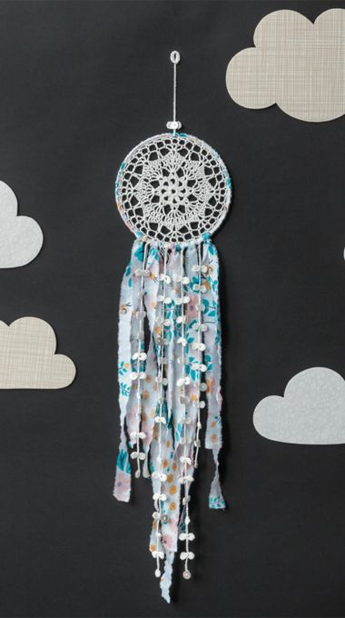 The crochet dreamcatcher pattern comes from Crochet Home, by Emma Lamb, a…