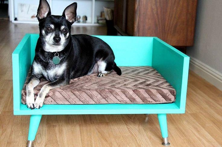 DIY Mid-Century Modern Style Pet Bed