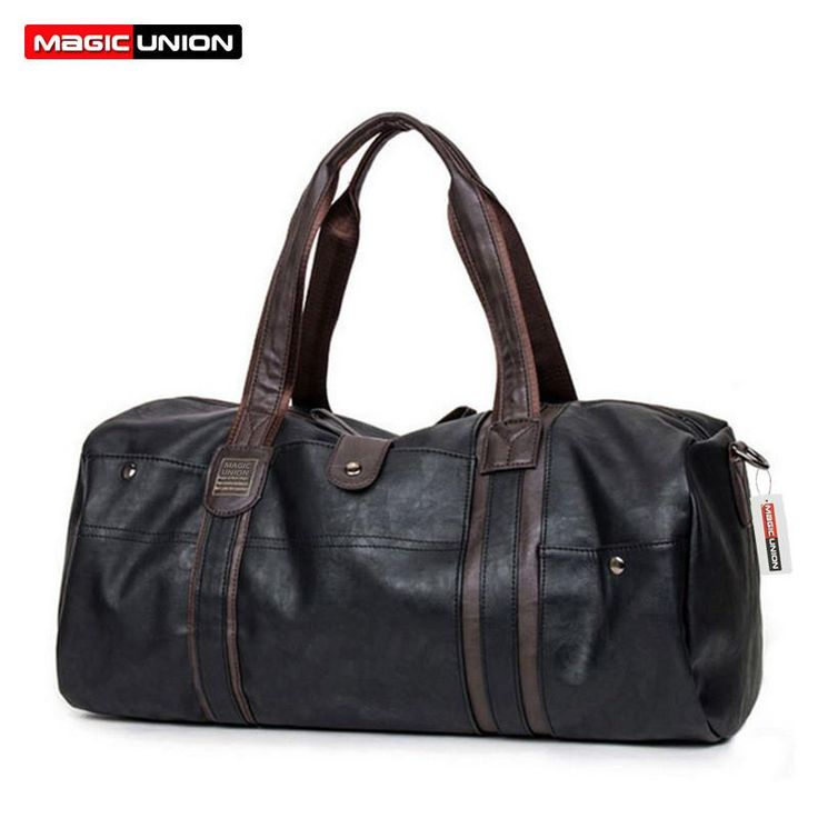 MAGIC UNION Brand Oil Wax Leather Handbags For Men Large-Capacity Portable Shoulder Bags Men's