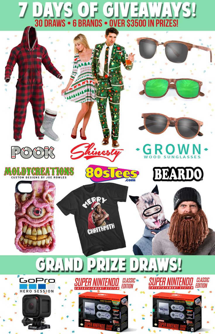 30 prizes including a GoPro & 2 x SNES Classics!  Yes Please! @beardowear