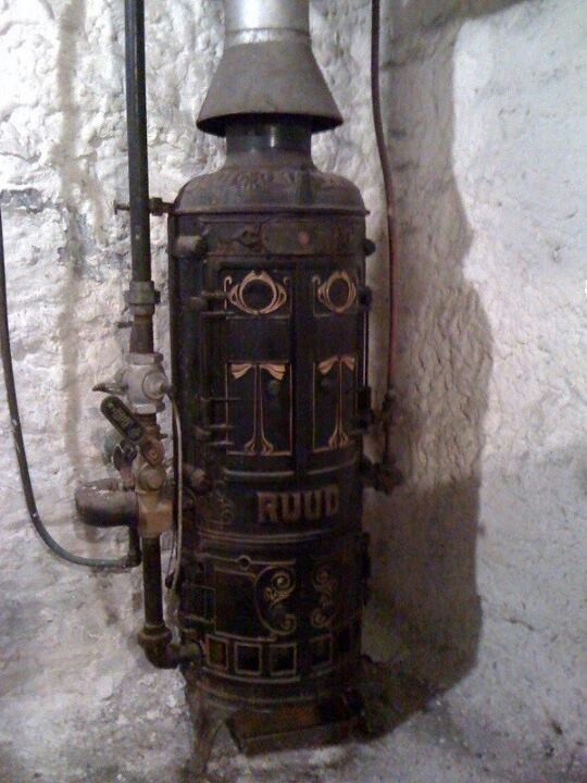 An Actual Ruud Tankless Water Heater From The Late 1800s