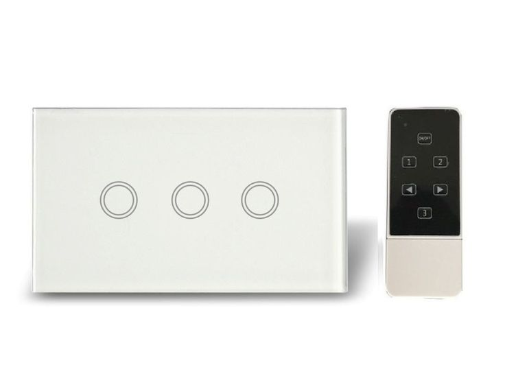 Now available at Home Lighting Hub 3 Gang 1 WAY + Re... visit us now for more http://www.homelightinghub.com.au/products/3-gang-1-way-remote-modern-blue-led-touch-light-switch?utm_campaign=social_autopilot&utm_source=pin&utm_medium=pin