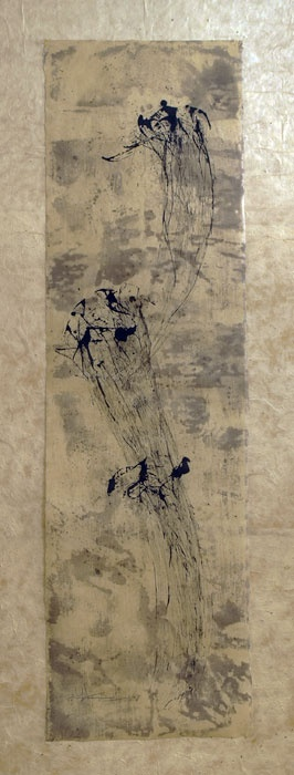 Yukiharu.Nihei....batik,natural dyes and sumi ink on Japanese paper.