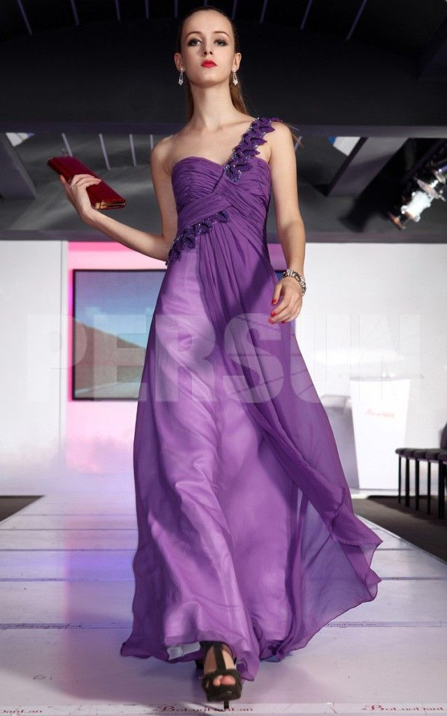 CHIFFON RED HIGH WAIST RUCHED BODICE EMBROIDERY PROM / EVENING D purple fashion prom dress purple fashion prom dress purple fashion prom dress