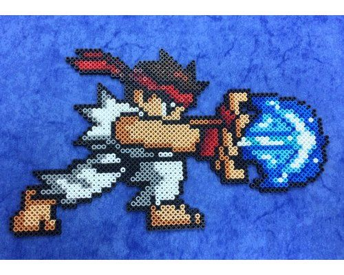 Ryu Street FIghter Hama beads