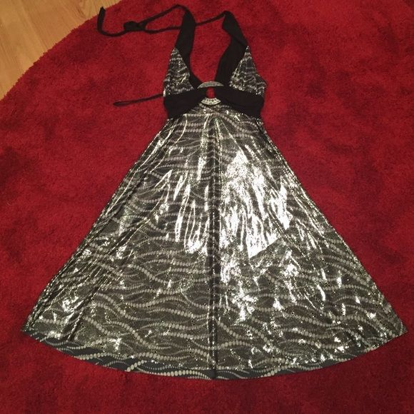Silver summer dress Beautiful dress black /silver Dresses
