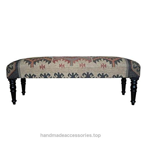 Herat Oriental Handmade Indo Kilim Upholstered Bench  Check It Out Now     $397.05    This is a unique piece of world art that will enhance your living space.Frame materials: Sheesham wood | Finish: Dar ..  http://www.handmadeaccessories.top/2017/03/20/herat-oriental-handmade-indo-kilim-upholstered-bench-2/