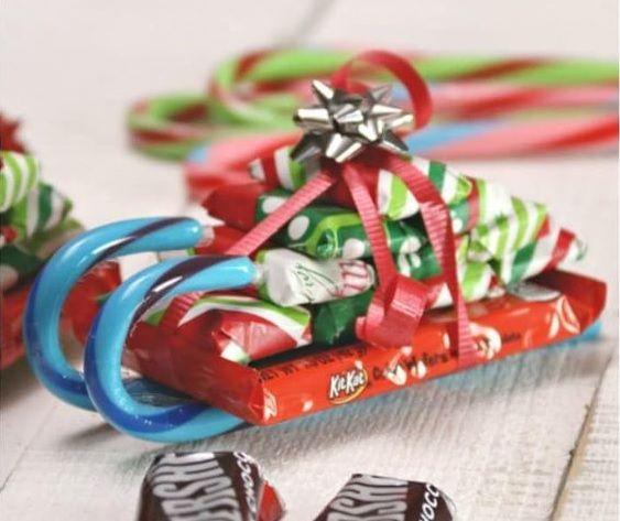 lembrancinha de natal com chocolates