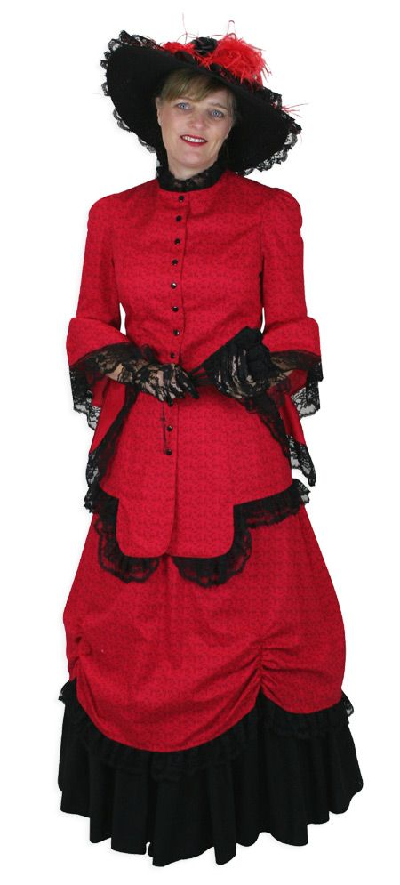 Lucille Walking Suit - Red steampunk emporium