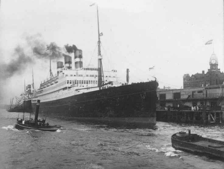 1929 ss statendam met Holland Amerika lijn.