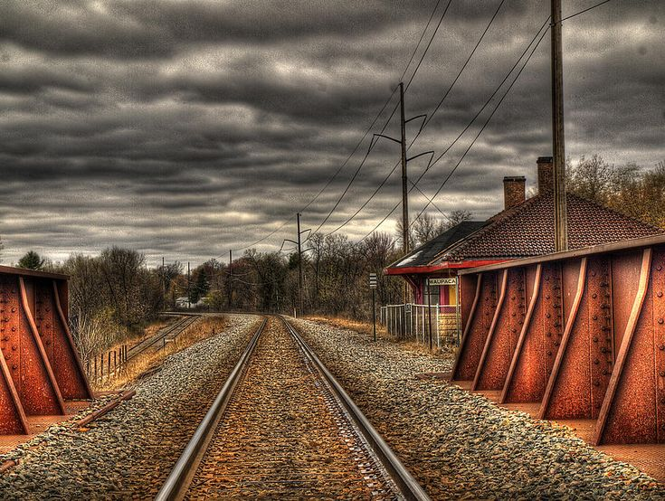 This is a historic train stop in Waupaca, Wisconsin. I believe it dates to 1907. This image is processed with Photomatix Pro and i used at least 9 exposures to create this image.