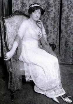 Lady Duff-Gordan  A fashionable and elegant lady born in England and famous as a survivor of the 1912 Titanic disaster.
