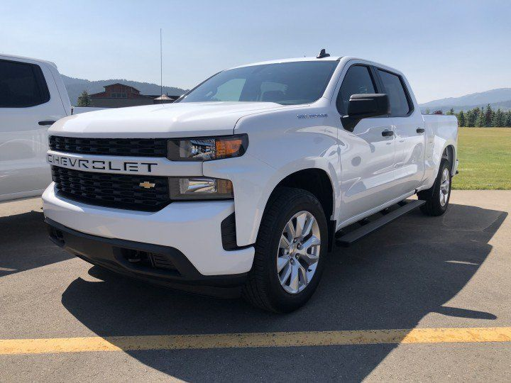 2019 Chevrolet Silverado 1500 Custom Exterior Wyoming Media Drive August 2018 001 Front Three Quarter Chevy Silverado Chevy Silverado 1500 2019 Silverado