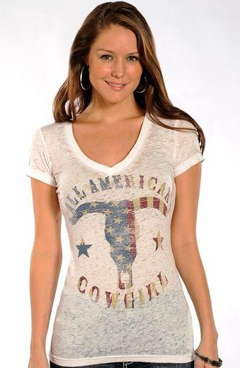 Womens American Flag T Shirt