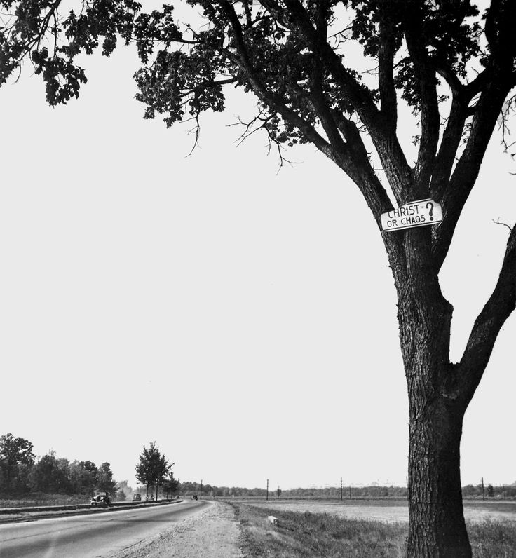Walker Evans, Christ or Chaos, 1946, (Gelatin silver print) [The Sir Elton John Photography Collection] Photograph via Walker Evans Archives, The Metropolitan Museum of Art