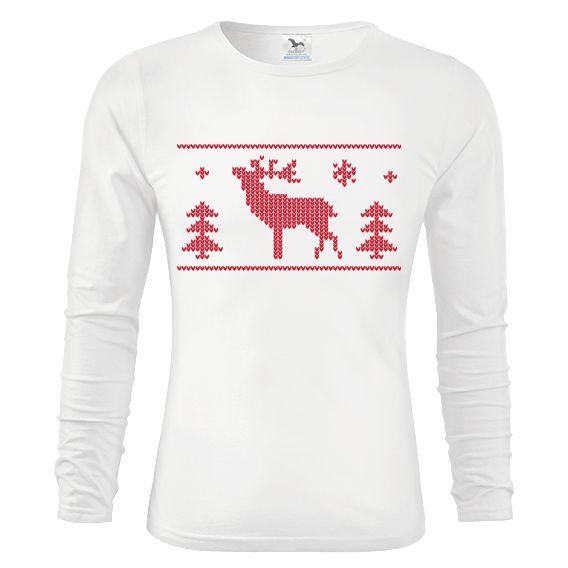 """Tip na vánoční dárek pro drahou polovičku - triko """"Triko s jelenem""""."""