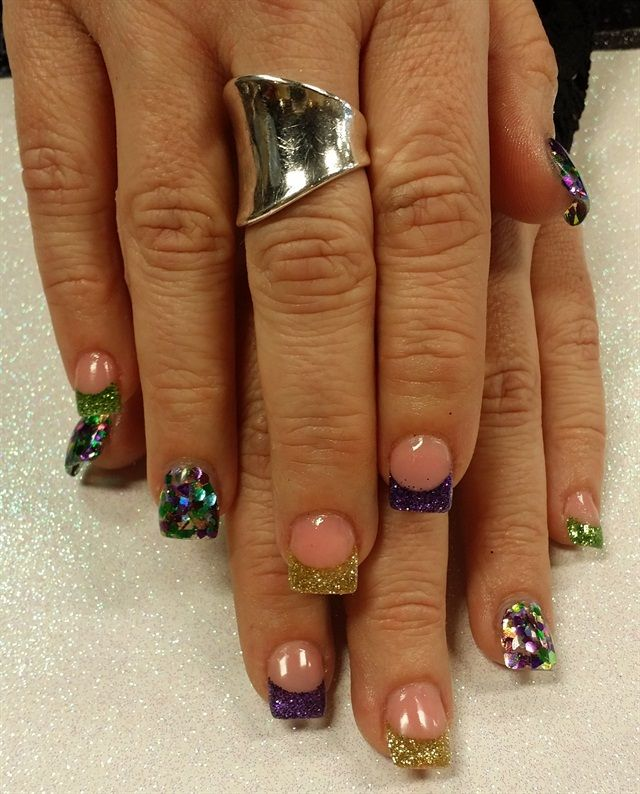 Modern Mardis Gras Nails Image Collection - Nail Art Ideas ...