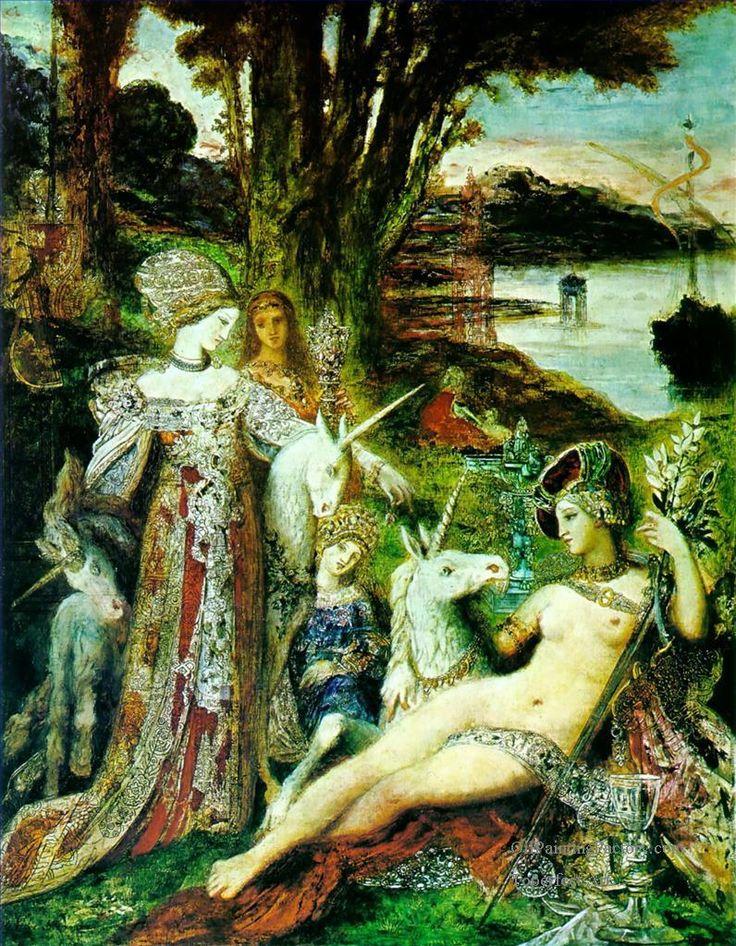 The Unicorns - Gustave Moreau