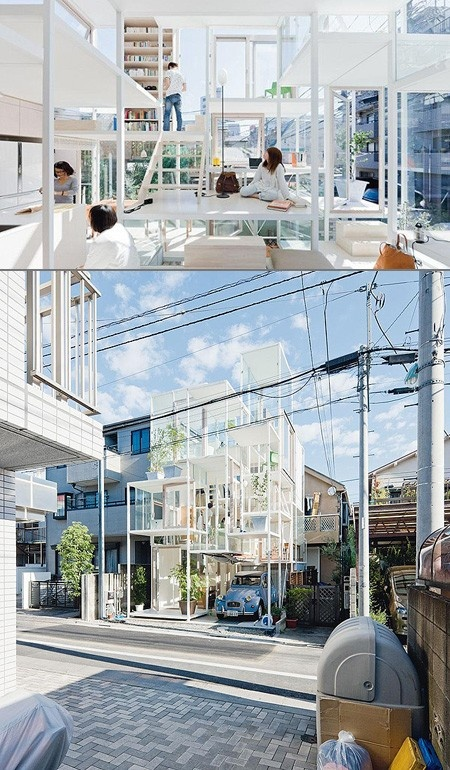 NA House - transparent home in Tokyo designed by Sou Fujimoto