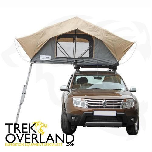 """A 1.3m (4.3')wide roof top tent that is 2.4m (7.9')long when unfolded. The super low 200mm (7.87"""") profile (excl.ladder)reduces wind resistance.This tenti"""